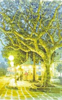 大きな木と小さなカフェ