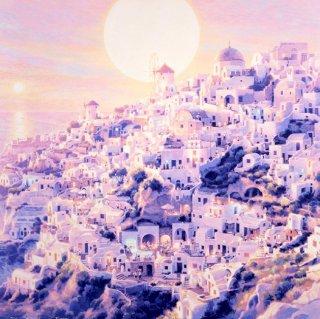 夕日の街 イア