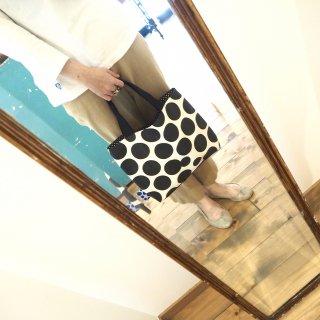 白黒水玉トートバッグ