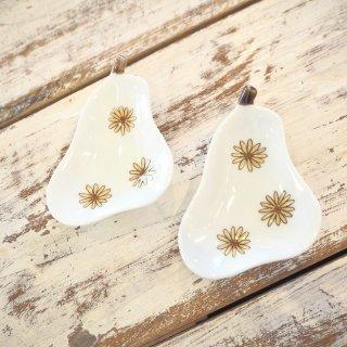 洋ナシ小皿 花柄
