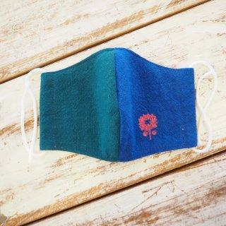 布製マスクカバーお花
