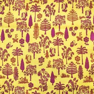 赤ずきんの森カラシ色 USAカット布100cm