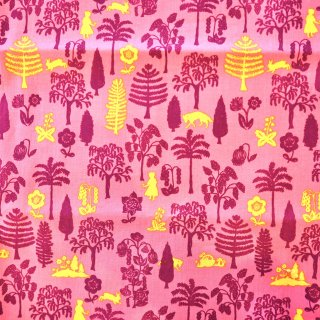 赤ずきんの森ピンク色 USAカット布100cm