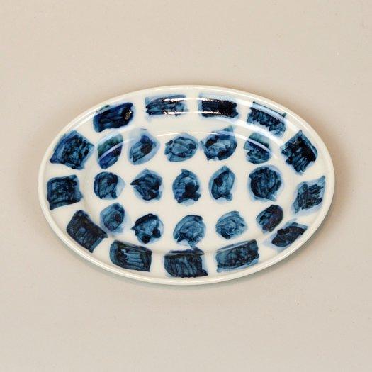 ふち有カレー皿 feb. 2021 c<br>(約  20  × 15 × 1 cm) ※一点もの