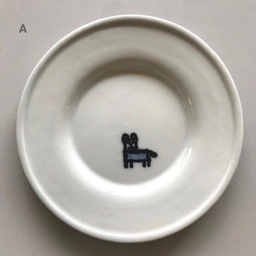 磁器丸皿 ふち有【3種類】<br> ※一点もの