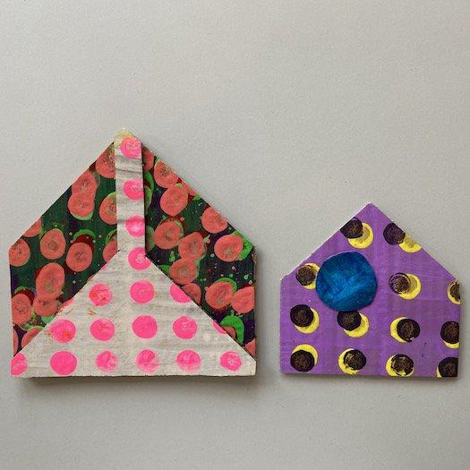 家ポストカード (大)【3種類ABC】<br>※一点もの