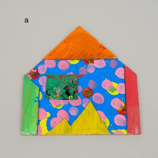 家ポストカード (大) 0427【3種類】<br>(約20cm× 20 cm)※一点もの