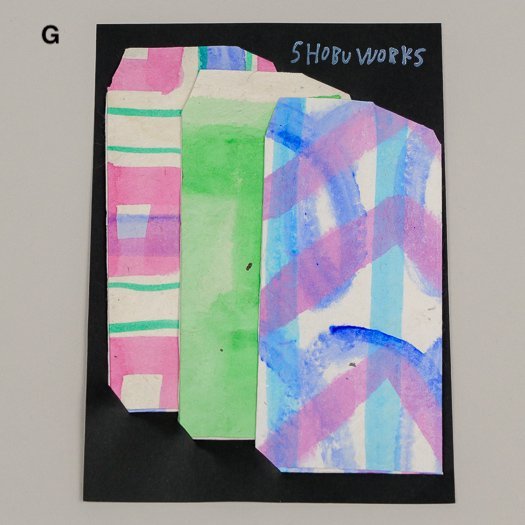 手描きポチ袋 (3枚セット)【3種類GHI】<br>※一点もの