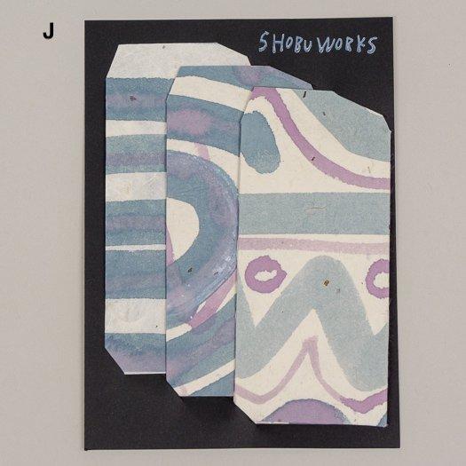 手描きポチ袋 (3枚セット)【3種類JKL】<br>※一点もの