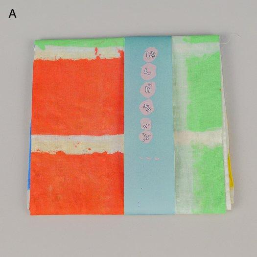手描きのハンカチ【3種類】<br>※一点もの