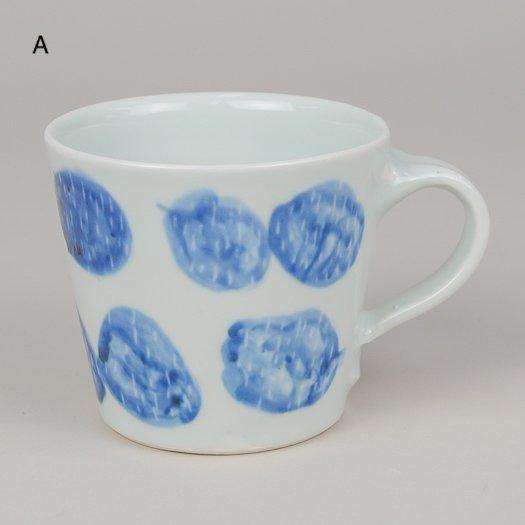マグカップ (磁器) 【2種類AB】<br> ※一点もの