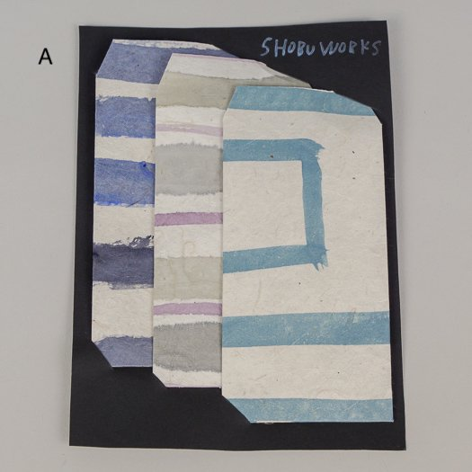 手描きポチ袋 (3枚セット)【3種類】<br>※一点もの