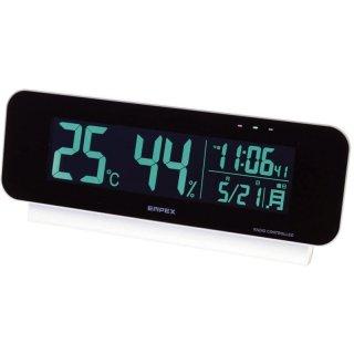 エンペックス 電波時計付デジタル温・湿度計