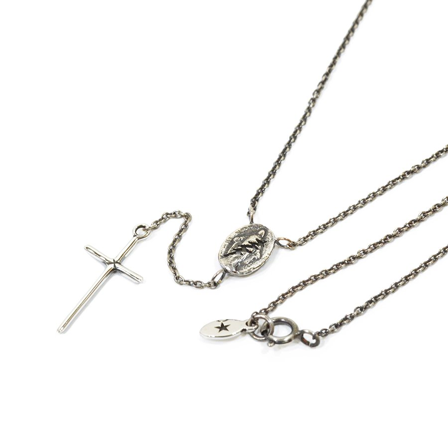 AMP JAPAN 14AH-141 rosary necklace-silver-