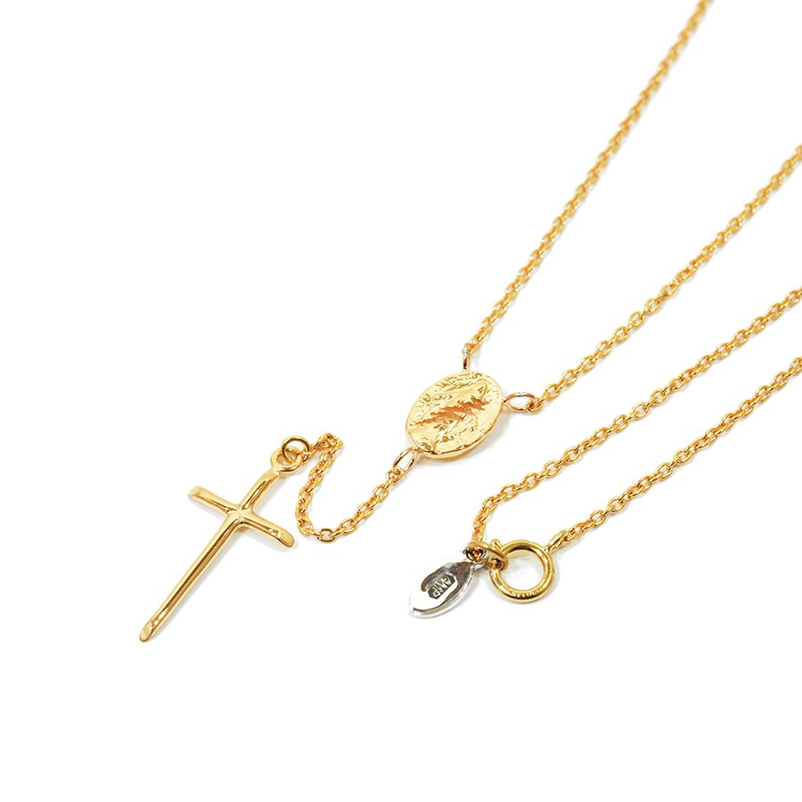AMP JAPAN 14AH-142 rosary necklace-gold-