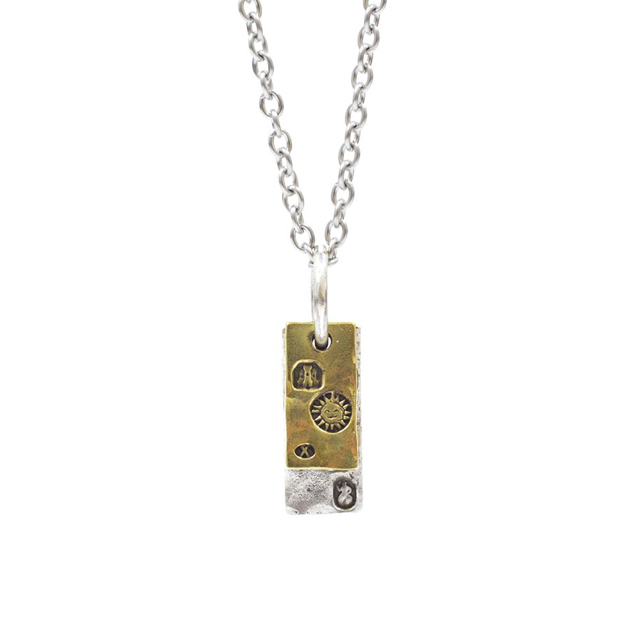 AMP JAPAN 14AH-112 hallmark necklace double square