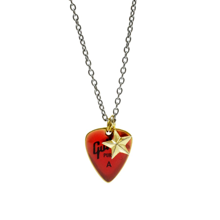 AMP JAPAN 11AD-826 pick necklace/RED