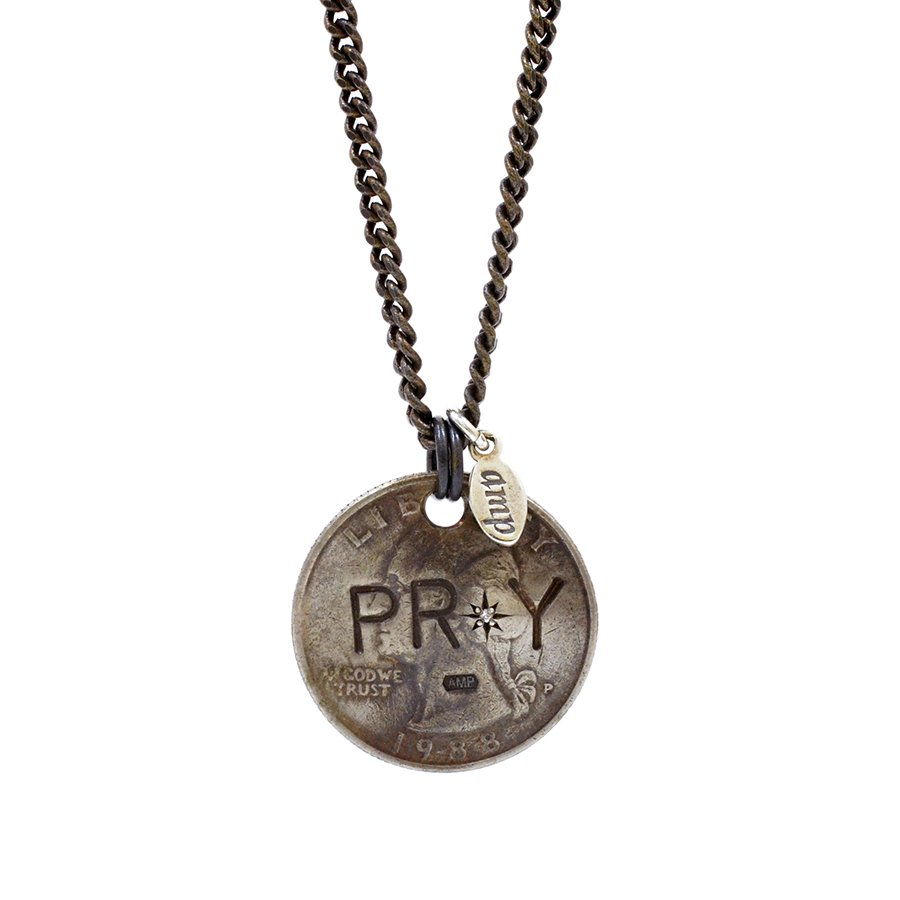 AMP JAPAN 11AD-217 PRAY Coin Necklace