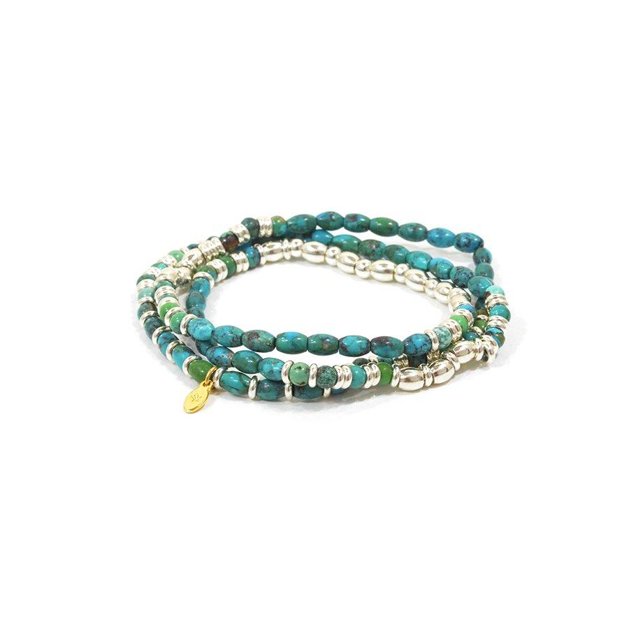 AMP JAPAN 15AHK-442 Turquoise & Metal Beads