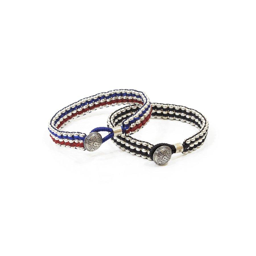 AMP JAPAN 15AH-420 Metal Beads Braid Bracelet