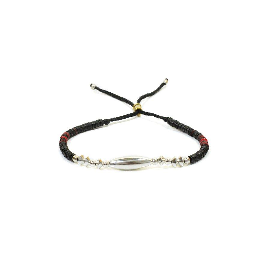 AMP JAPAN 16AHK-437 Silver & Disk Beads Bracelet