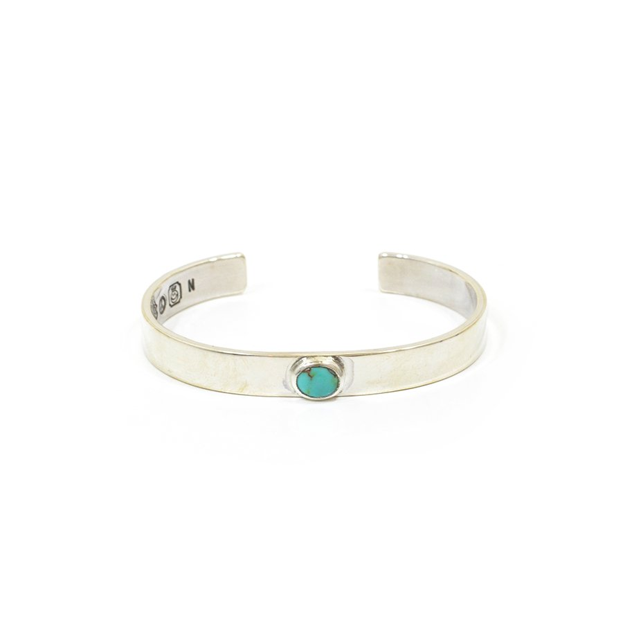 NORTH WORKS W-018 Narrow Circle turquoise bangle