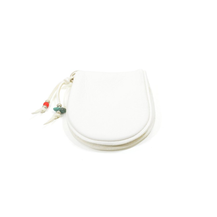 Sunku SK-133 WHITE DEER LEATHER COIN PURSE