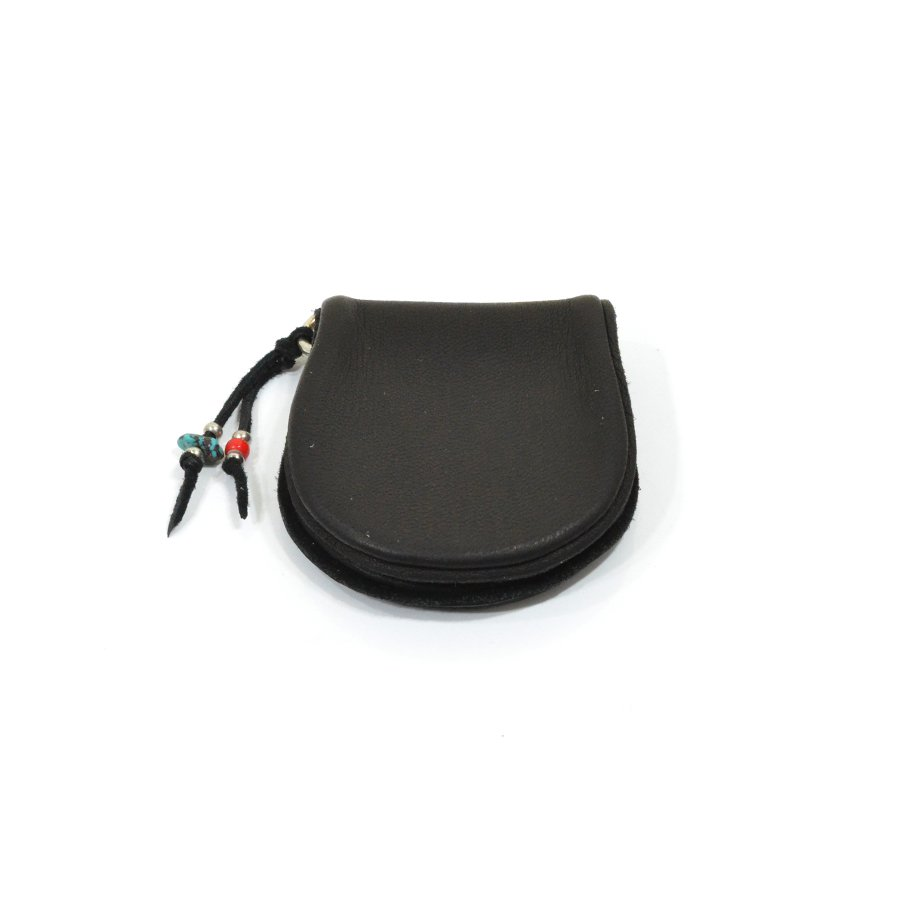 Sunku SK-133 BLACK DEER LEATHER COIN PURSE