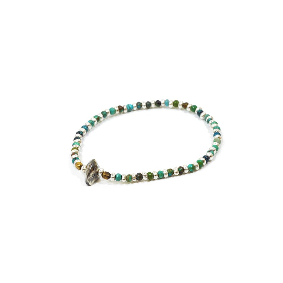 Sunku SK-039 Turquise & Silver Beads Bracelet