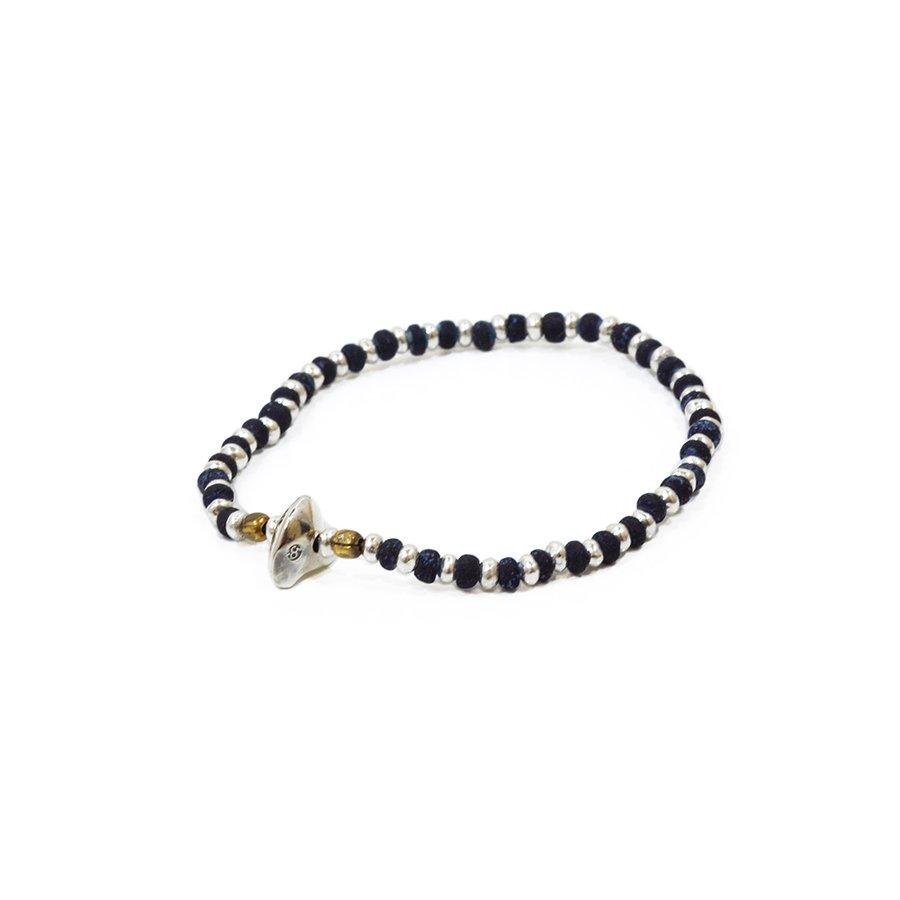 Sunku SK-040 Indigo & Silver Beads Bracelet