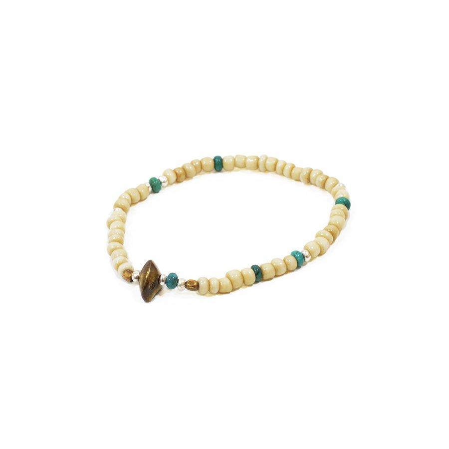 Sunku LTD-023 Antique Beads Bracelet White