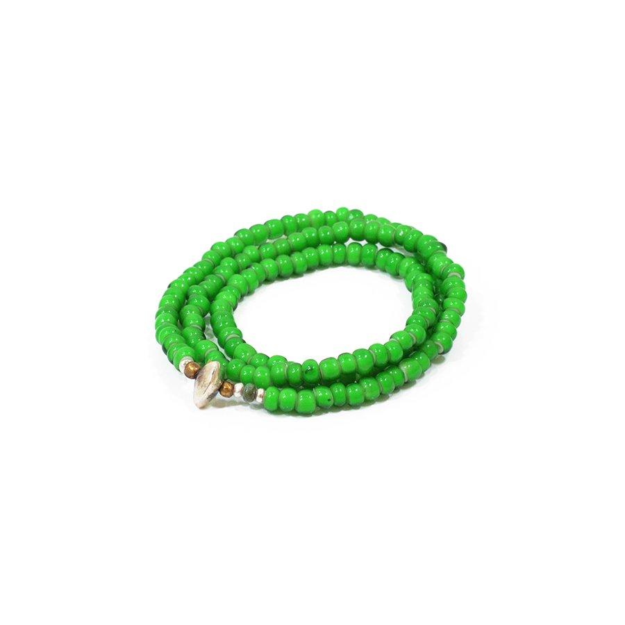 Sunku LTD-010 White Heart Beads Necklace & Brace