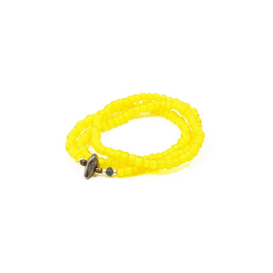 Sunku LTD-006 White Heart Beads Necklace & Brace