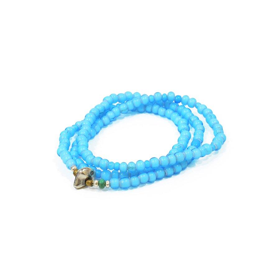 Sunku LTD-004 White Heart Beads Necklace & Brace