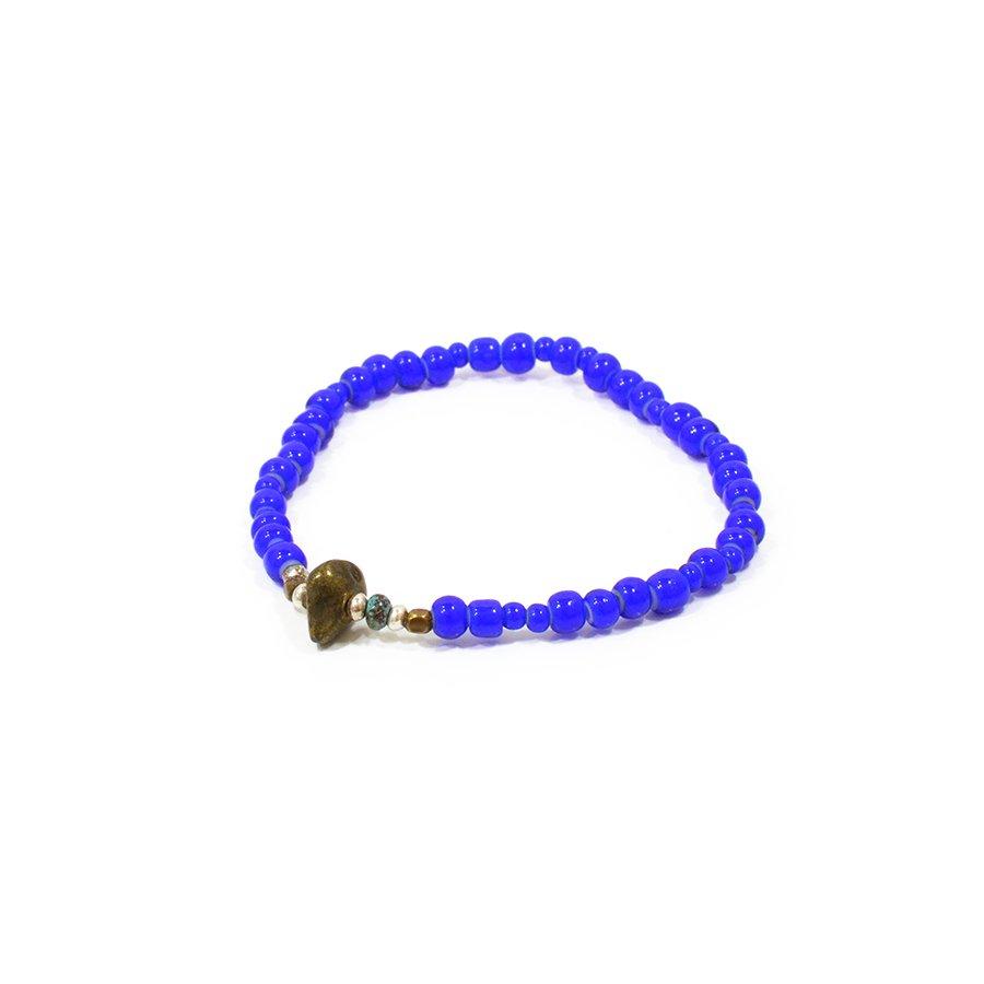 Sunku LTD-011 Antique Beads Bracelet Navy