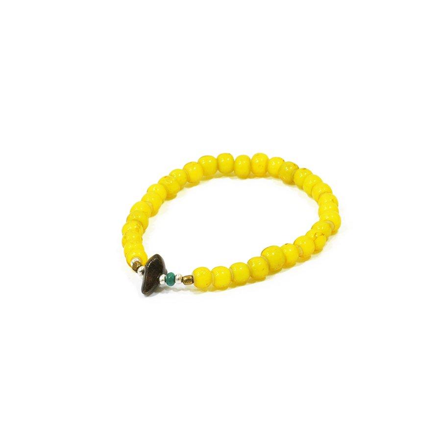 Sunku LTD-005 Antique Beads Bracelet Yellow