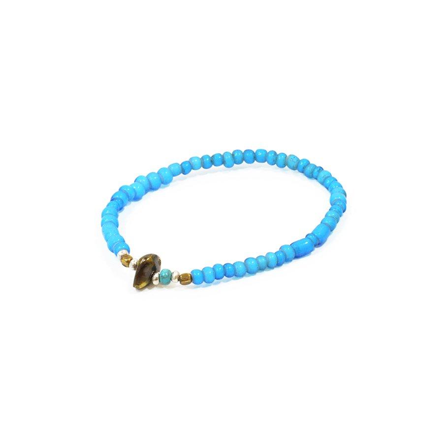 Sunku LTD-003 Antique Beads Bracelet Sky Blue