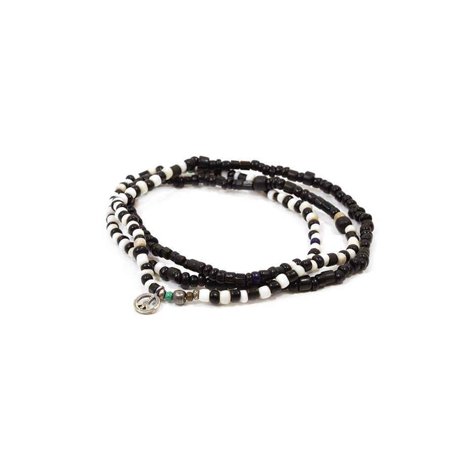 Sunku SK-087 Antique Black & White Beads Long