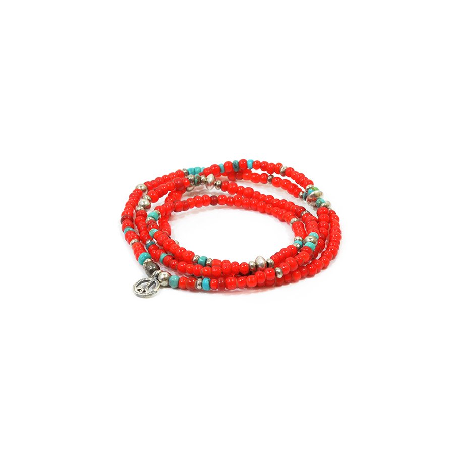 Sunku SK-086 White Heart & Turquoise Long