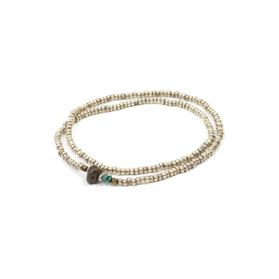 Sunku SK-075 Silver Beads Anklet & Necklace