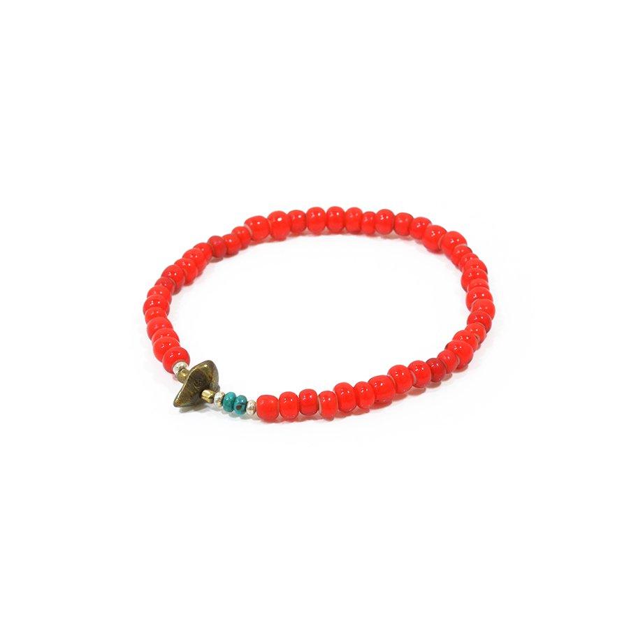 Sunku SK-077 White Heart Beads Anklet (L Beads)
