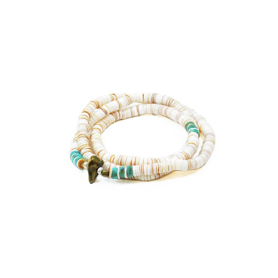 Sunku SK-056WH Heishi Shell Necklace & Bracelet