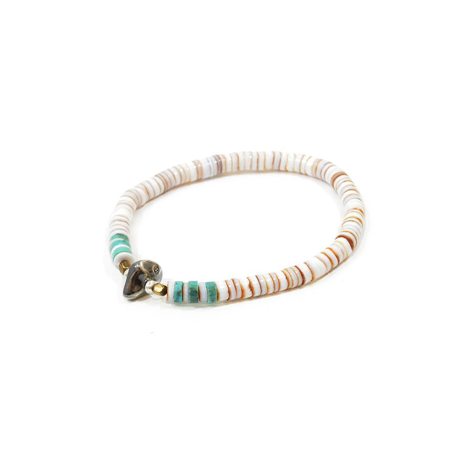 Sunku SK-055WH Heishi Shell Bracelet