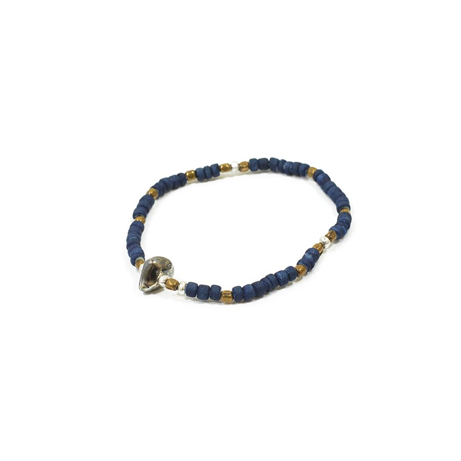Sunku SK-013 Indigo Dye Beads Bracelet(S Beads)