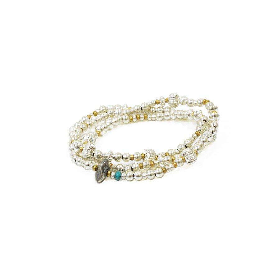 Sunku SK-054 Mix Silver Beads Necklace & Bracelet