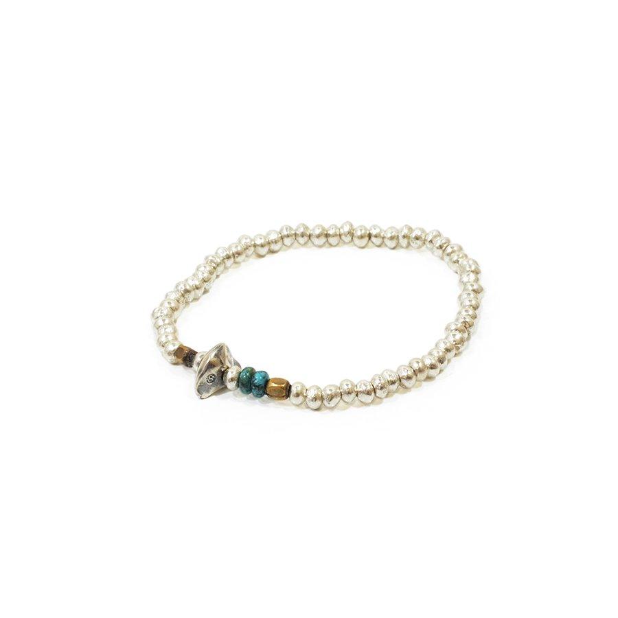 Sunku SK-067 Silver Beads Bracelet(M Beads)