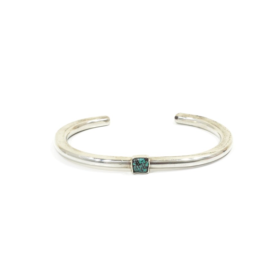 Sunku SK-191 Roller Press Bangle (L)W/Turquoise