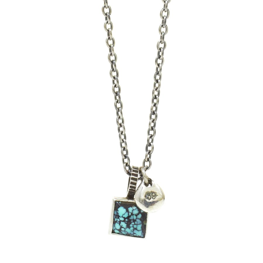 Sunku SK-182 Square Turquoise Necklace