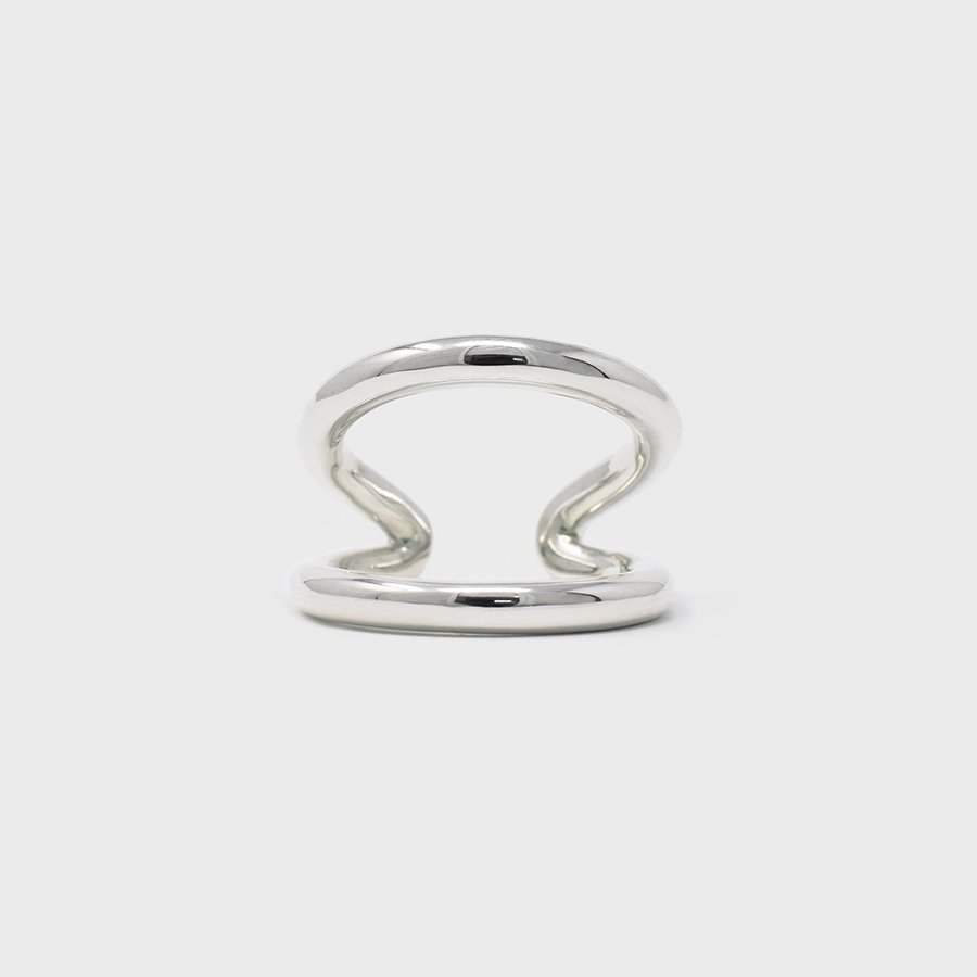 "UNKNOWN. U080 "" LOG "" RING / SILVER"