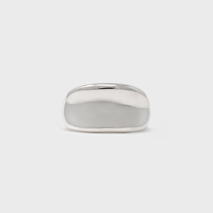 "UNKNOWN. U082 "" RIDGE "" RING / SILVER"